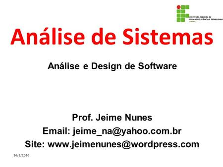 Análise e Design de Software Site: