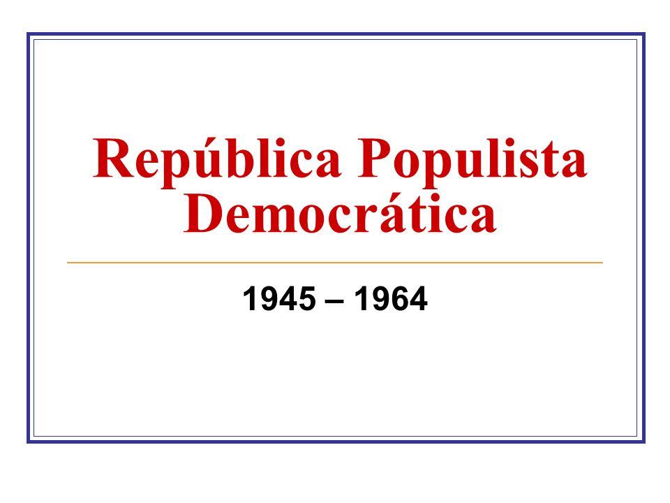 Transição JOSÉ LINHARES (29/10/45 – 31/01/46) Presidente do Supremo Tribunal Federal Eleições Presidenciais Vitória de Eurico G.