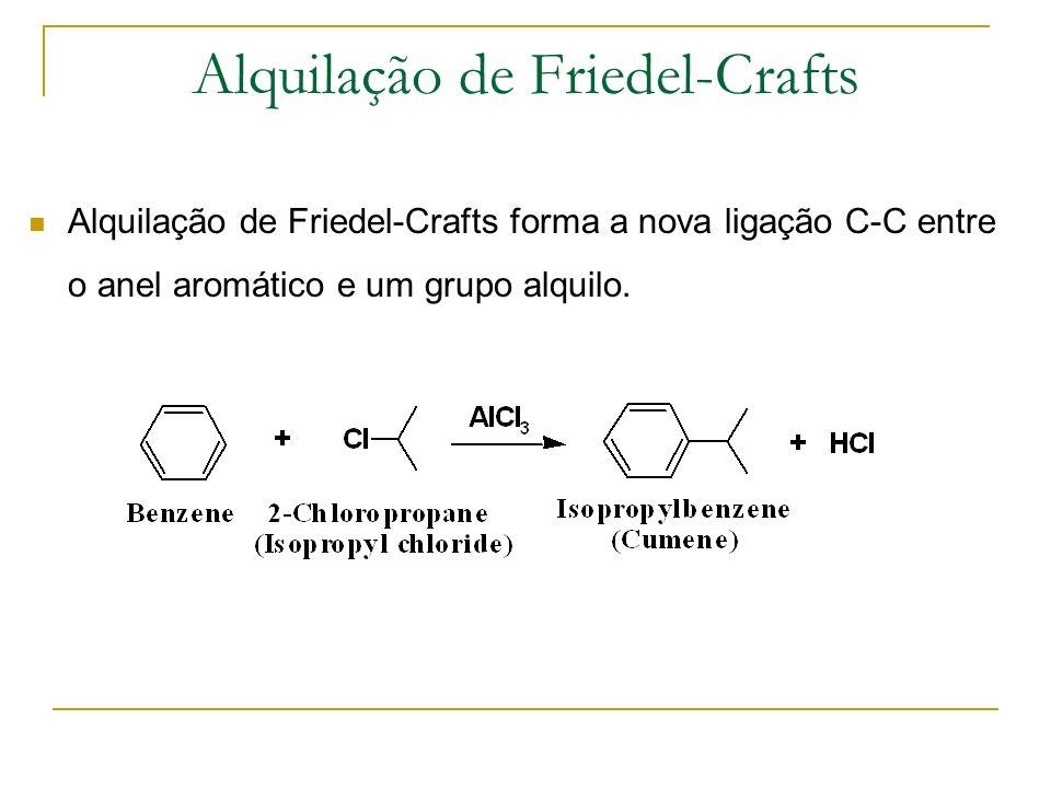 Passo 1: Passo 1: Formação do catião alquilo. Alquilação de Friedel-Crafts