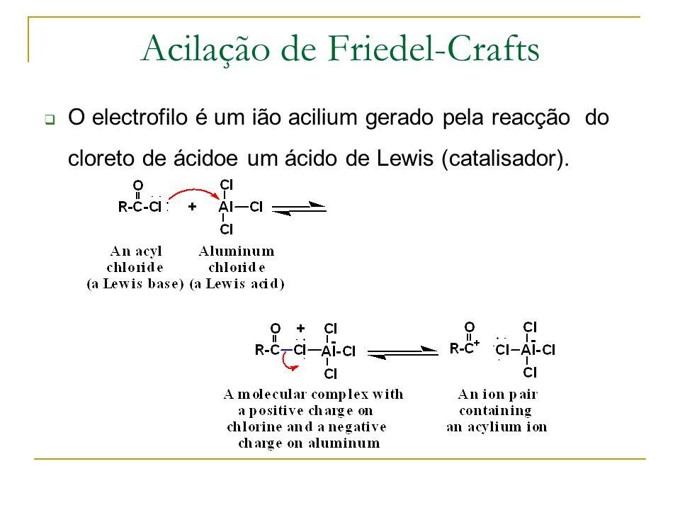 Outras alquilações do Benzene Formação de carbocatiões Tratar um alceno com ácido protico,mais comum H 2 SO 4 ou H 3 PO 4.