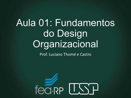 Aula 01: Fundamentos do Design Organizacional