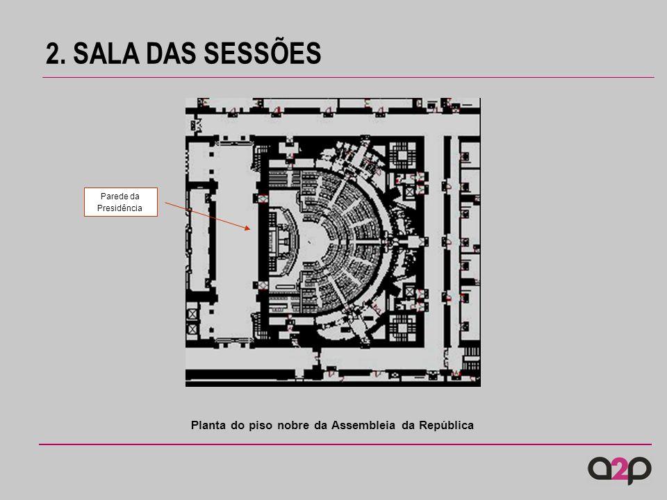 2. SALA DAS SESSÕES Planta da estrutura do tecto e da cobertura da Sala de Sessões