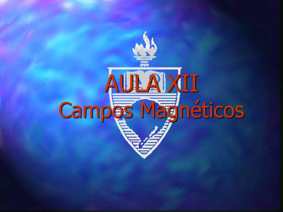 Campos Magnéticos n São criados por cargas elétricas em movimento n A Intensidade do Campo Magnético (H) é determinada pela força que exerce sobre uma carga elétrica em movimento.