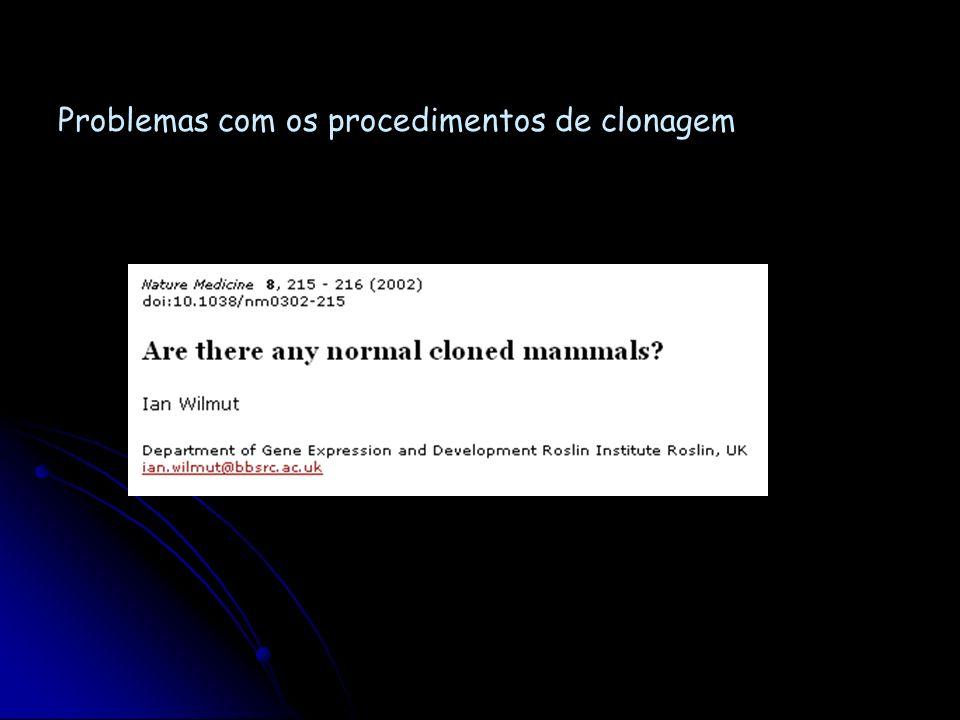 Fato: clonagem de mamíferos a partir de células adultas