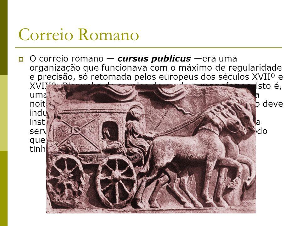 As Estradas Romanas A construção de estradas foi um fator essencial no desenvolvimento econômico do Império Romano, além de favorecer enormemente seu domínio militar.