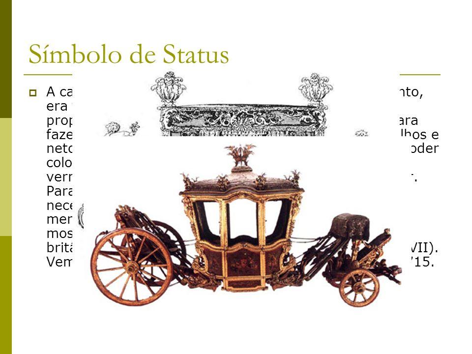As carruagens tornam-se mais leves Após a estagnação medieval, no princípio da era moderna as viaturas começaram a se transformar, tornando-se mais leves e arejadas.