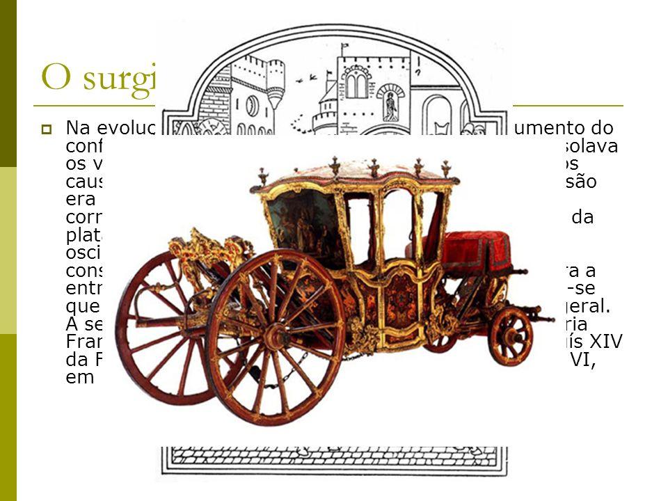 Trem dianteiro giratório Outra inovação técnica que surgiu neste período foi a introdução do trem dianteiro giratório.
