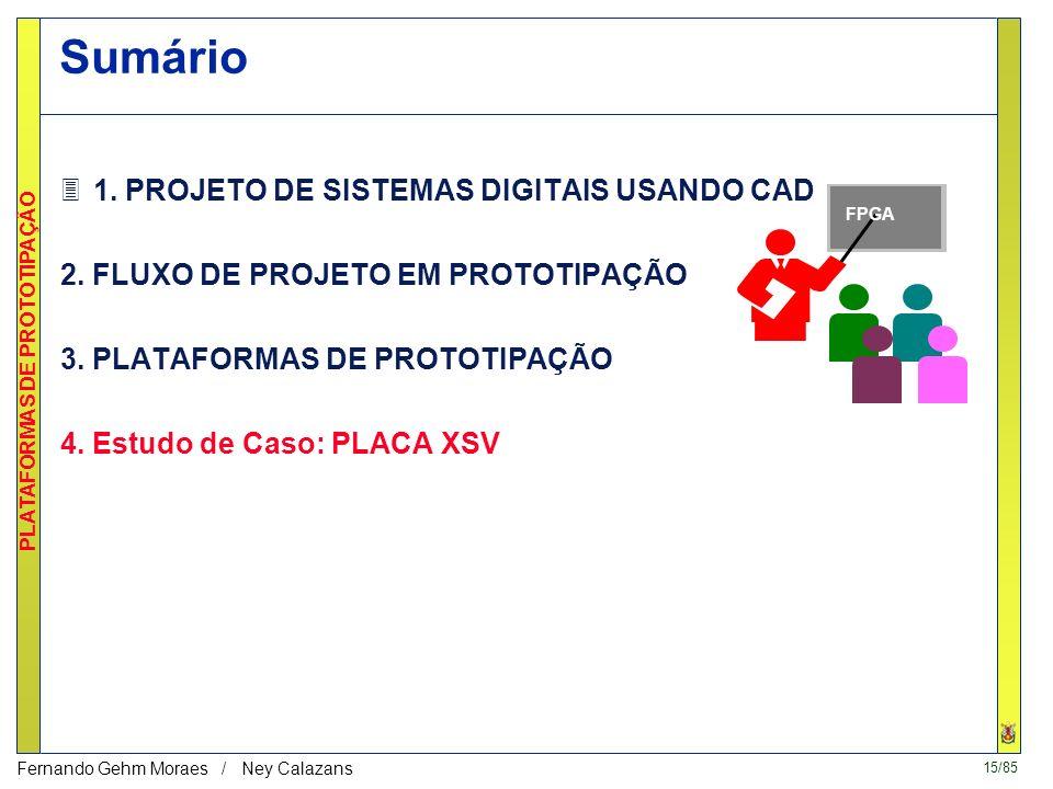 15/85 PLATAFORMAS DE PROTOTIPAÇÃO Fernando Gehm Moraes / Ney Calazans katherine moraes daniel carlos rodrigo Sumário 31.