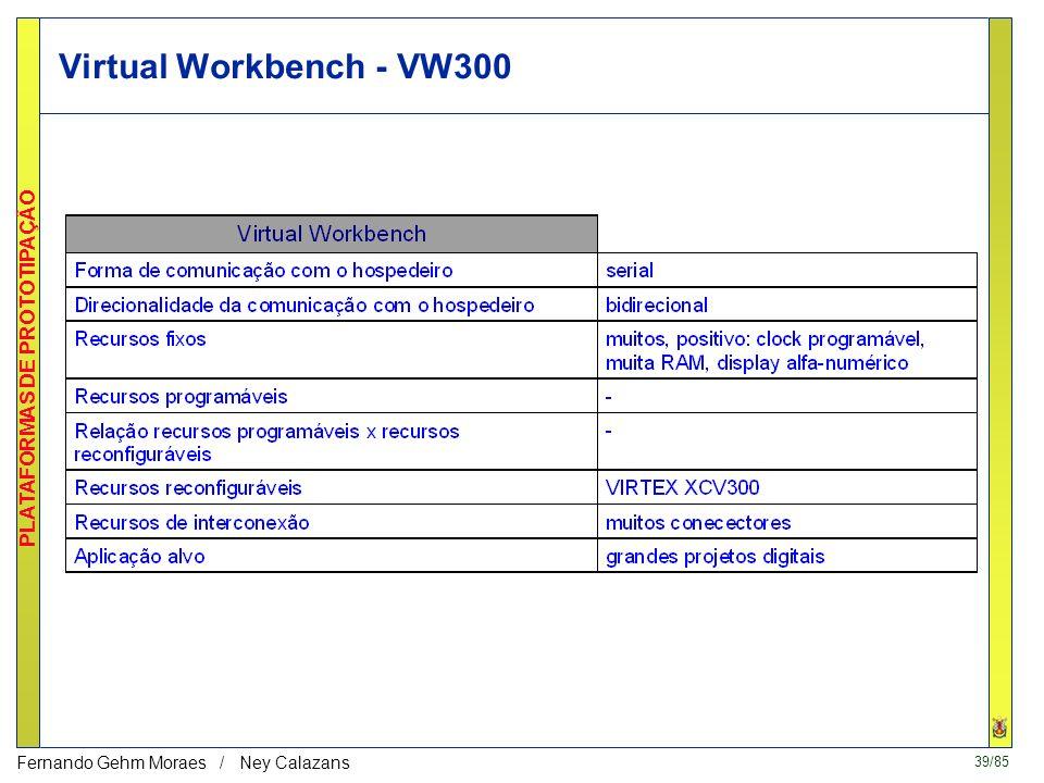 39/85 PLATAFORMAS DE PROTOTIPAÇÃO Fernando Gehm Moraes / Ney Calazans Virtual Workbench - VW300