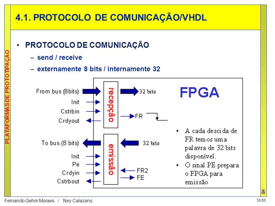 50/85 PLATAFORMAS DE PROTOTIPAÇÃO Fernando Gehm Moraes / Ney Calazans 4.1.
