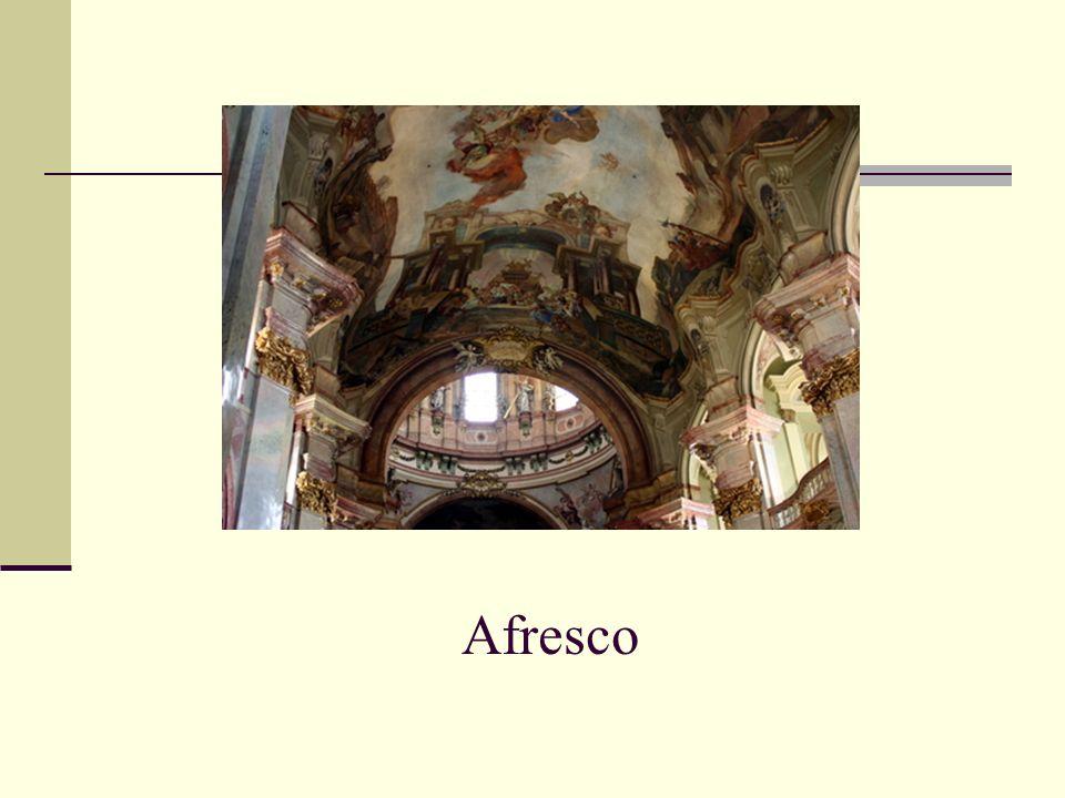 O afresco era empregado nos tetos das igrejas, dando a impressão que estávamos a ter a visão paradisíaca do céu.