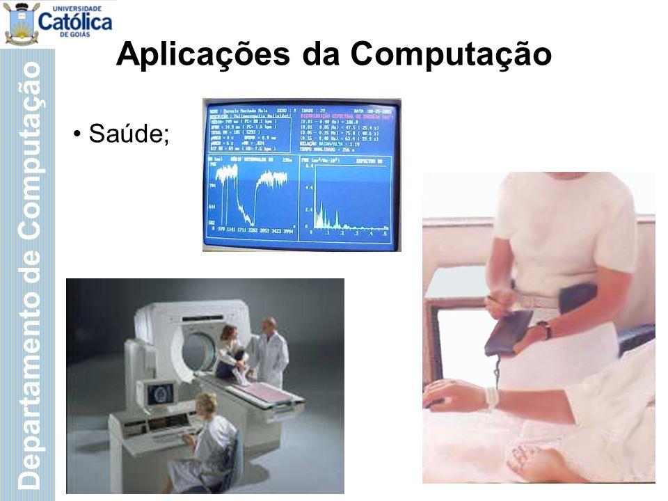 Departamento de Computação Aplicações da Computação Artes
