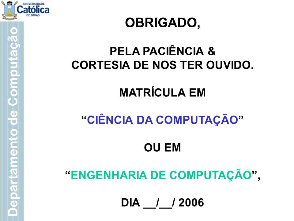 Departamento de Computação Prof.MBA Piero Martelli (62) 9971- 4131 martelli@ucg.br Prof.