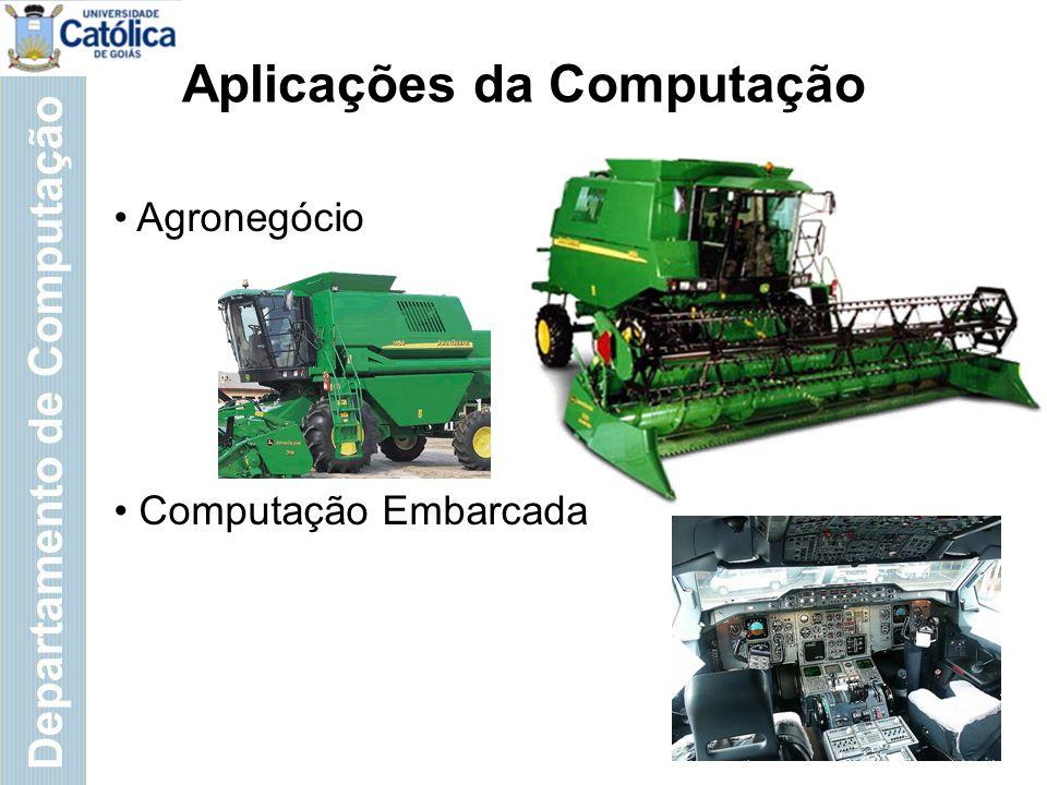 Departamento de Computação Aplicações da Computação Geoprocessamento Finanças