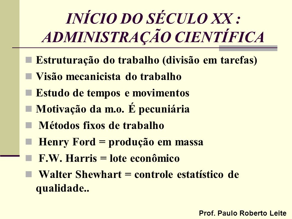 Prof.Paulo Roberto Leite ADM.