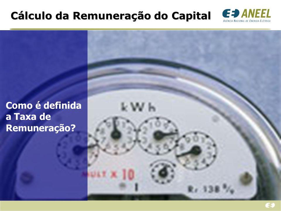 Cálculo da Remuneração do Capital Metodologia Adotada: Emprega-se a média ponderada entre os custos de capital próprio e de terceiros.