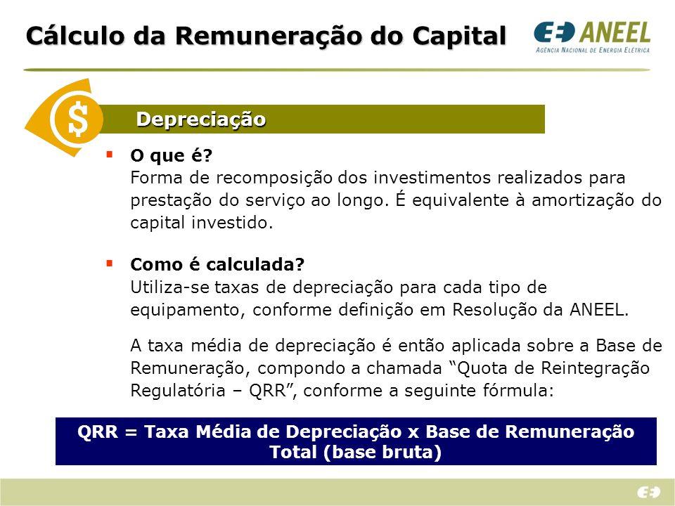 Cálculo da Remuneração do Capital Como é calculada.