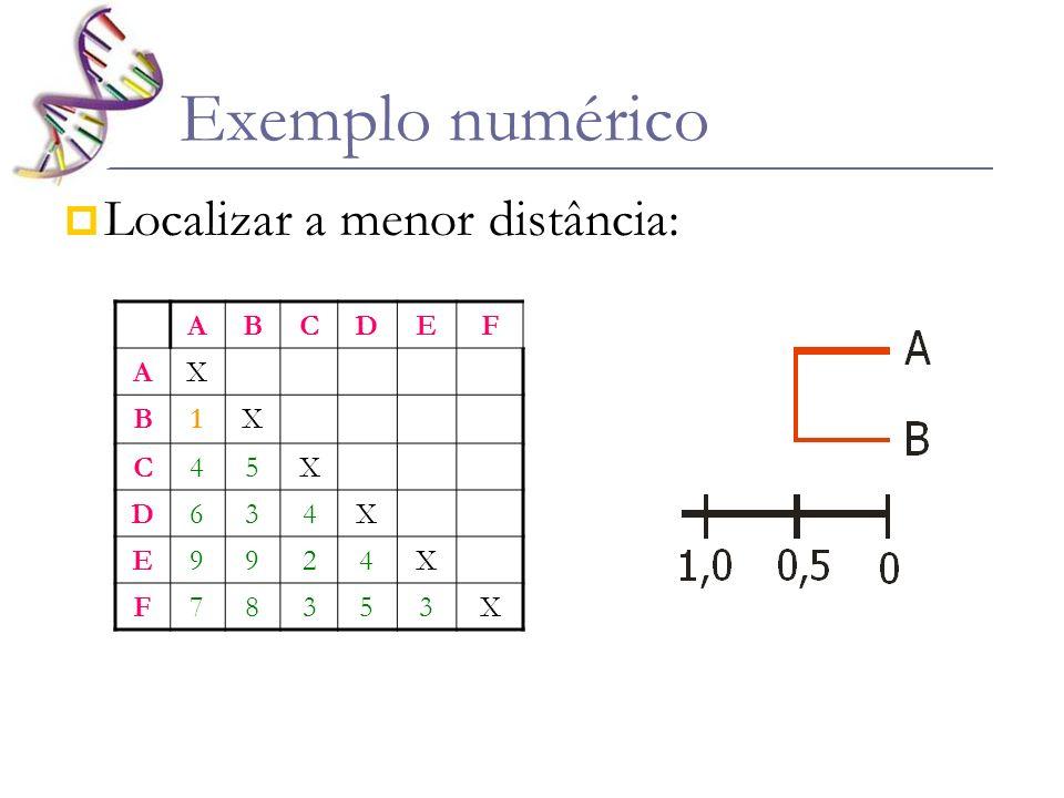 Calcular médias ABCDEF X CX D4X E24X F353X ABCDEF AX B1X C45X D634X E9924X F78353X