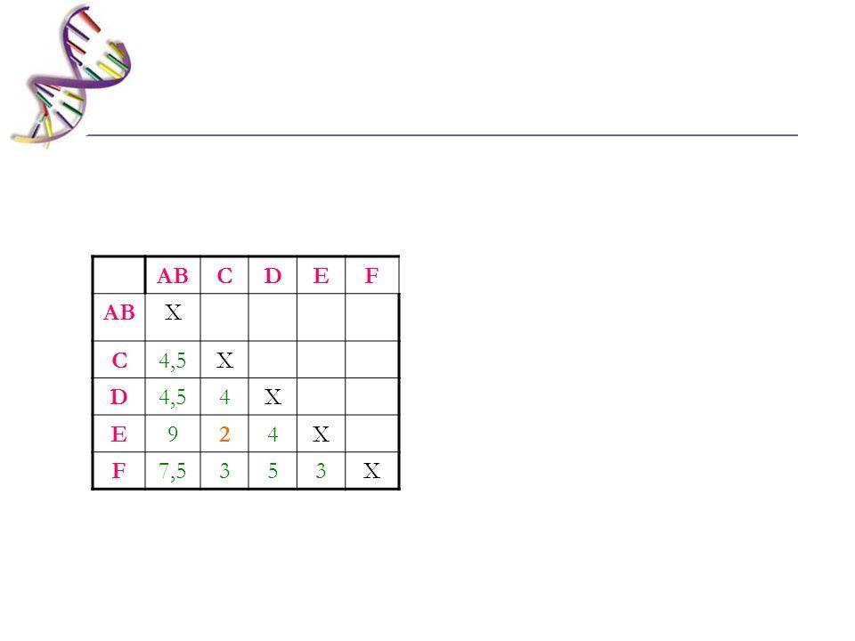 ABCDEF X C4,5X D 4X E924X F7,5353X