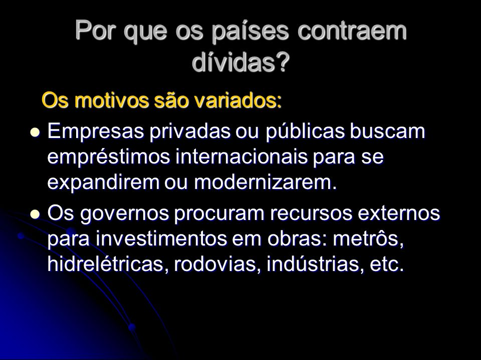 ALGUNS CASOS DO BRASIL: Criação de um parque industrial do ABC paulista, no governo JK (1960).