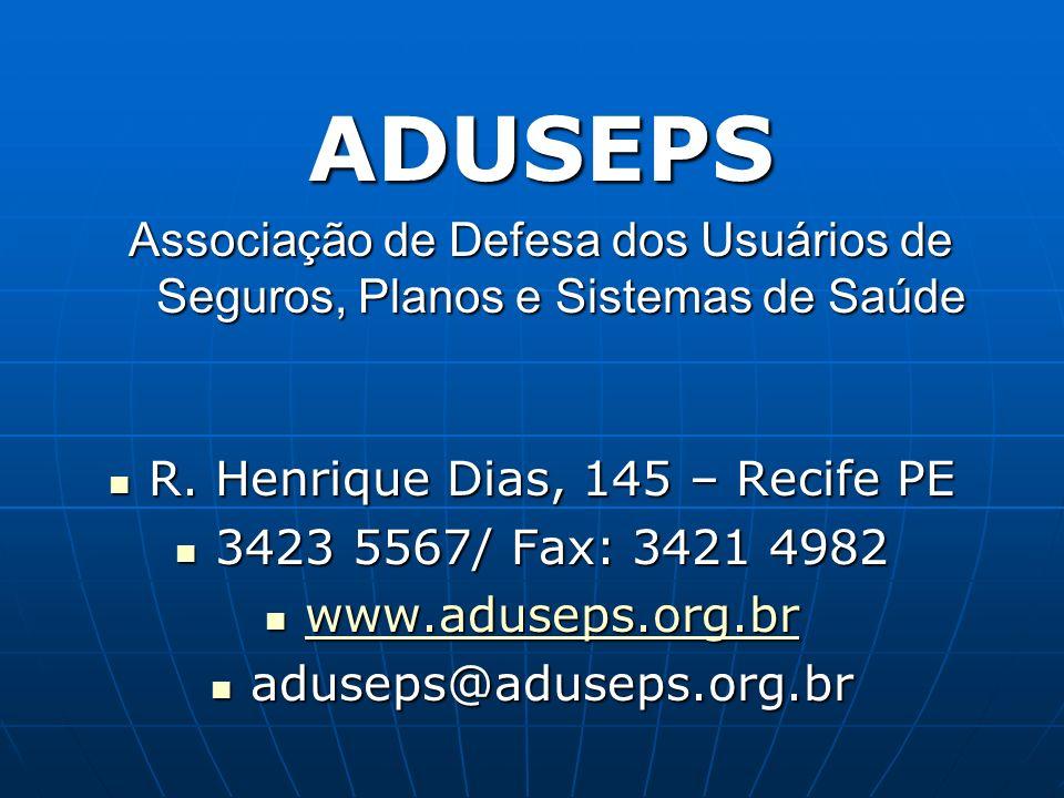 A Aduseps foi fundada em 1996 com objetivo de garantir os direitos fundamentais do indivíduo, entre eles a saúde como entre eles a saúde como completo bem-estar físico, social e mental, utilizando a caneta utilizando a caneta e a Constituição Federal.