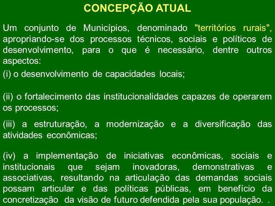 MISSÃO DA SECRETARIA DE DESENVOLVIMENTO TERRITORIAL Apoiar a organização e o fortalecimento institucional dos atores sociais locais na gestão participativa do desenvolvimento sustentável dos territórios rurais e promover a implementação e integração de políticas.