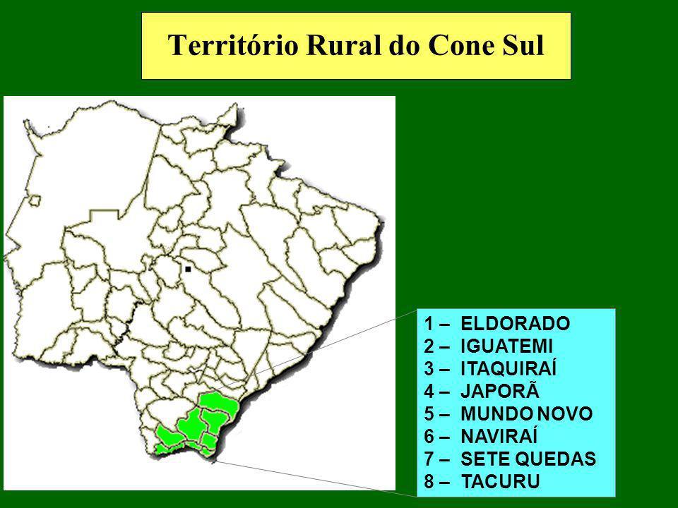 1 –ANASTÁCIO 2 – DOIS IRMÃOS DO BURITI 3 – GUIA LOPES DA LAGUNA 4 – MARACAJÚ 5 – NIOAQUE 6 – SIDROLÂNDIA 7 - TERENOS Território Rural da Reforma