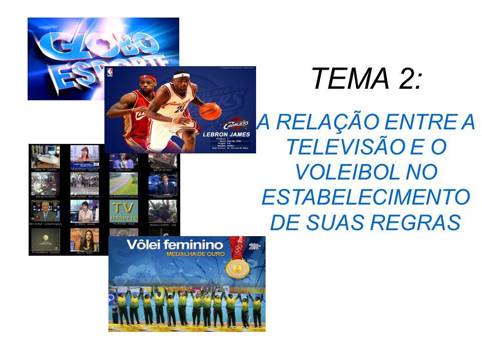 Voleibol: O voleibol sofreu muitas mudanças ao longo de sua história, algumas delas devido a televisão.