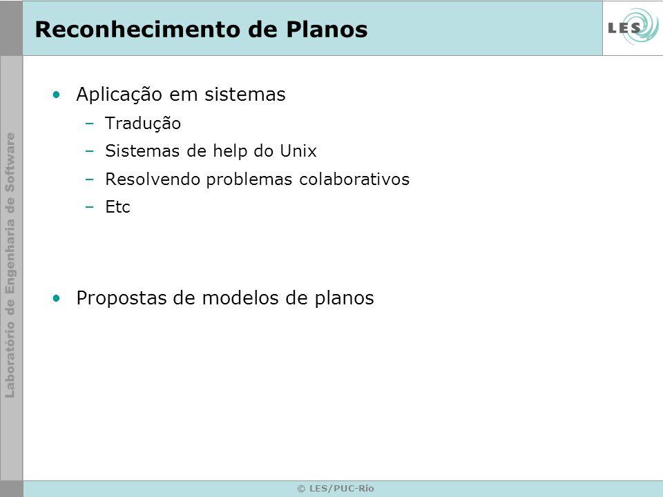 © LES/PUC-Rio Modeling the Users Plans and Goals Context Model representa como uma ação pode contribuir para um objetivo.