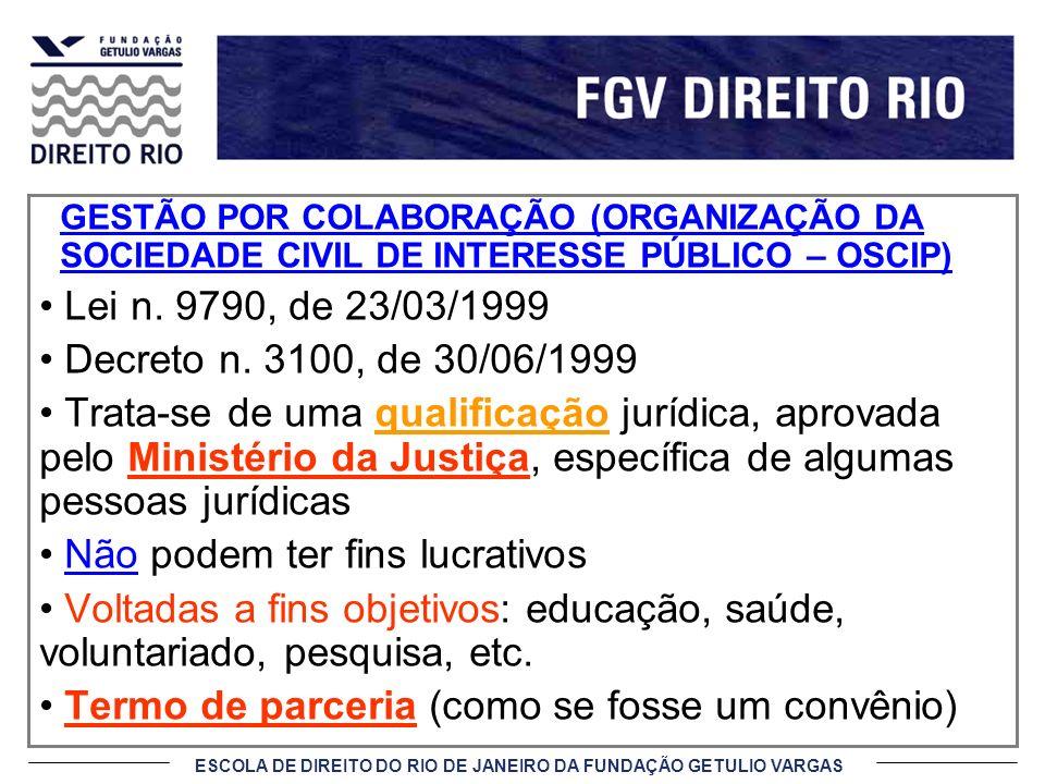 ESCOLA DE DIREITO DO RIO DE JANEIRO DA FUNDAÇÃO GETULIO VARGAS CERTIFICADO DE QUALIFICAÇÃO