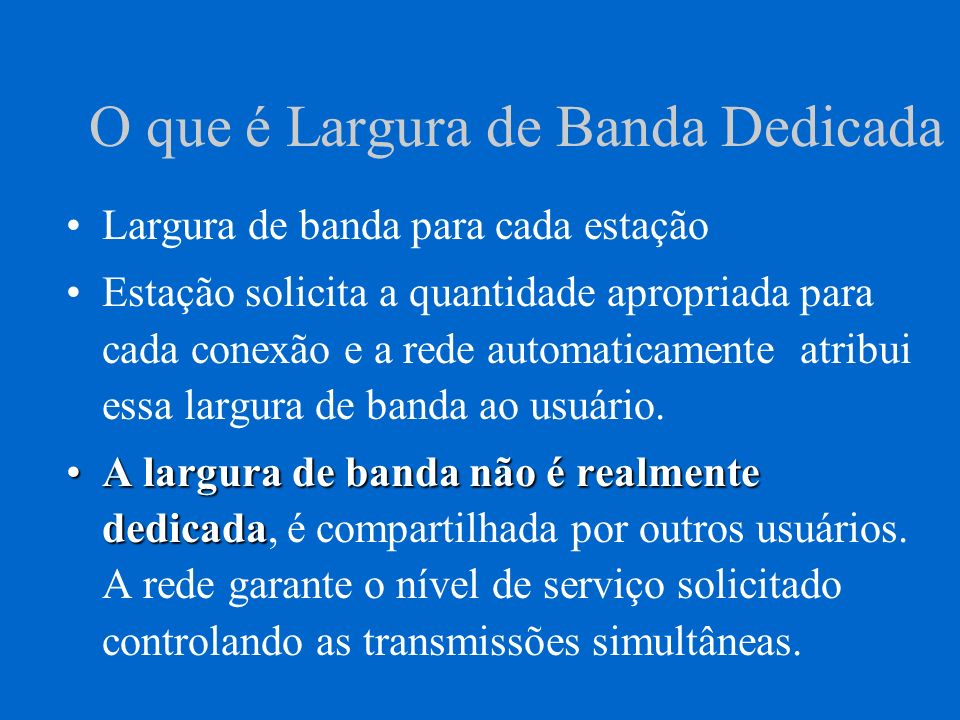 Considerações de Cabeamento Topologia ATM é uma malha de comutadores.