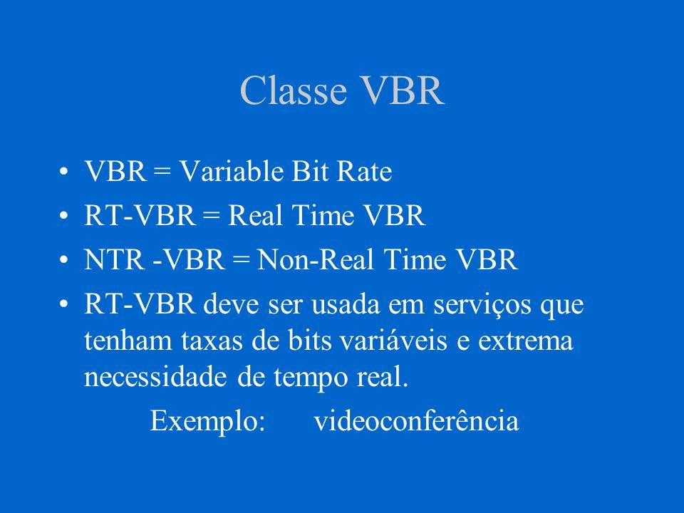 NRT-VBR E destinada ao tráfego no qual a entrega pontual e importante, mas um certo retardo pode ser tolerado pela aplicação.