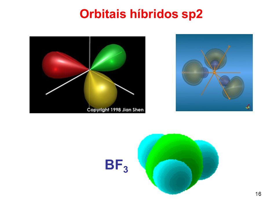 17 Hibridização sp A molécula de BeCl 2 ou BeH 2