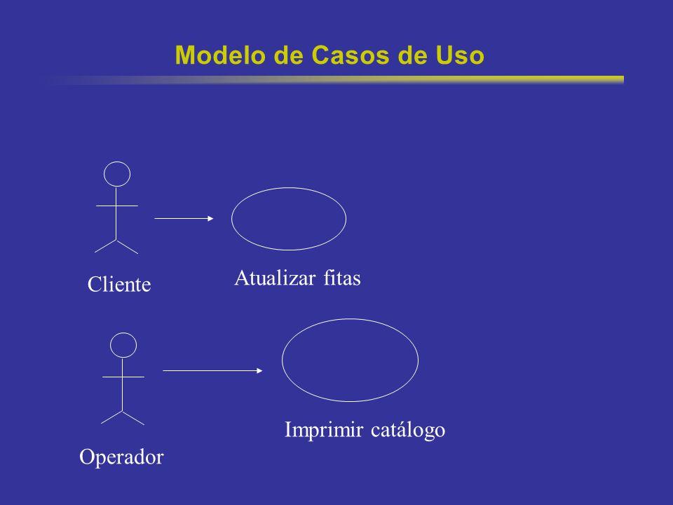 4 Modelo de Casos de Uso Modelo da funcionalidade do sistema e dos elementos que interagem com o mesmo(atores) Atores -> usuários ou outros sistemas Casos de Uso -> útil na comunicação para validação dos requisitos com usuário final.