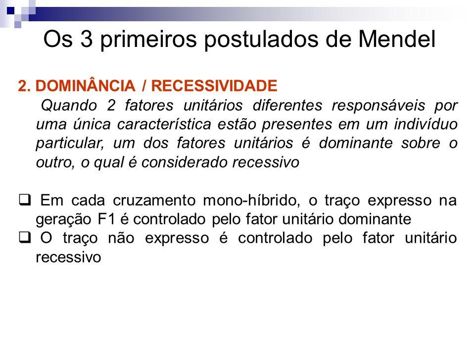 Os 3 primeiros postulados de Mendel 3.