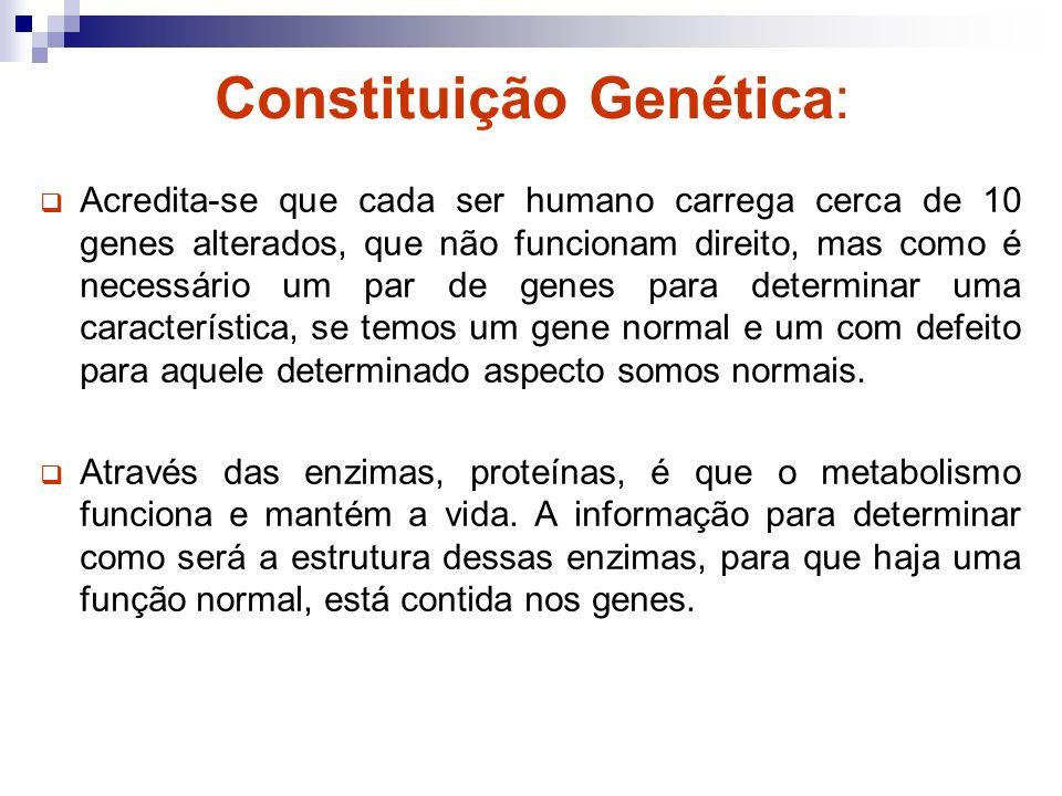 Padrões de Herança As características do organismo, tanto a aparência quanto o funcionamento e o metabolismo, é determinada sempre por um par de genes, um herdado do pai e outro da mãe.