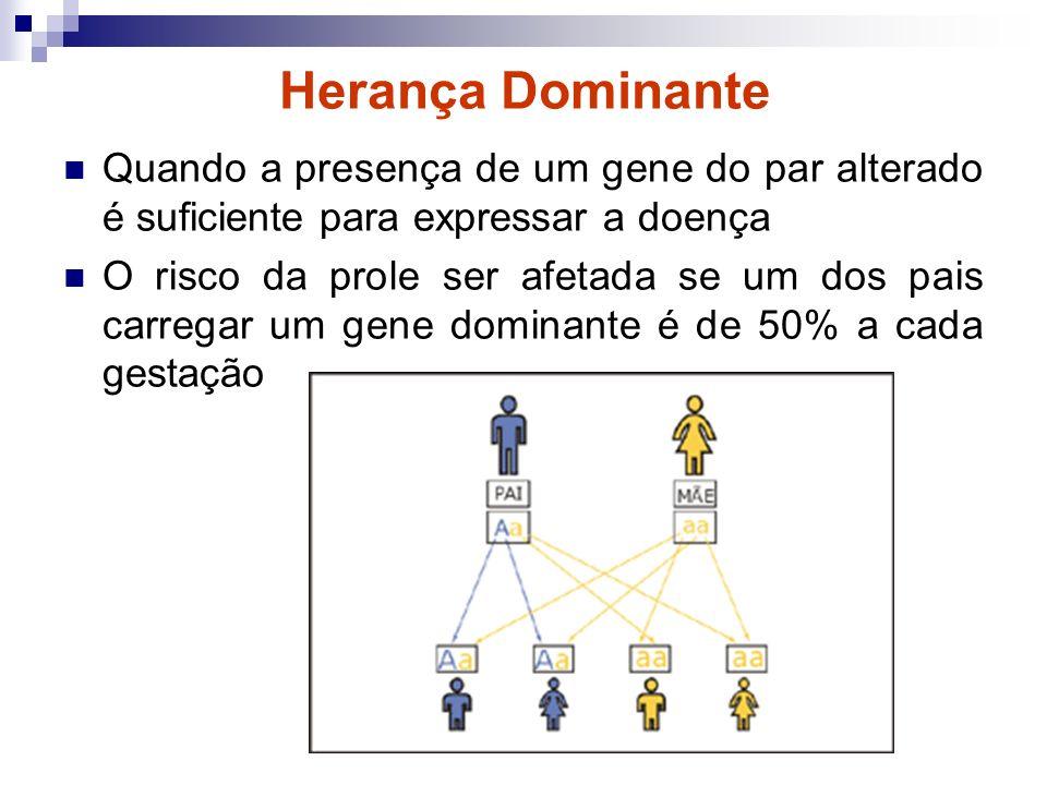 Se existe um gene deficiente no DNA mitocondrial, a mãe terá o risco de praticamente 100% a cada gestação de ter um filho ou filha com a doença A mãe transmite seu DNA mitocondrial a toda prole.