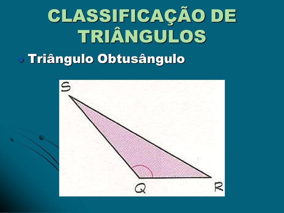 TRIÂNGULO ISÓCELES O lado de medida diferente é chamado base e o ângulo oposto à base chama- se ângulo do vértice.