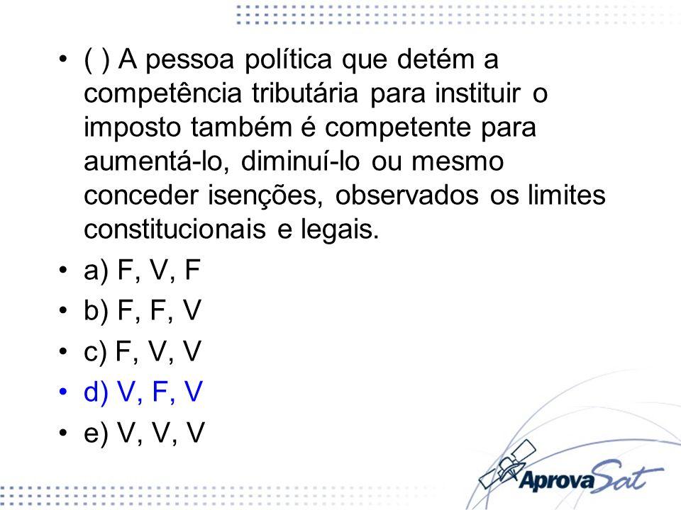TIPOS DE COMPETÊNCIA: Privativa: Impostos (CF/1988, art.