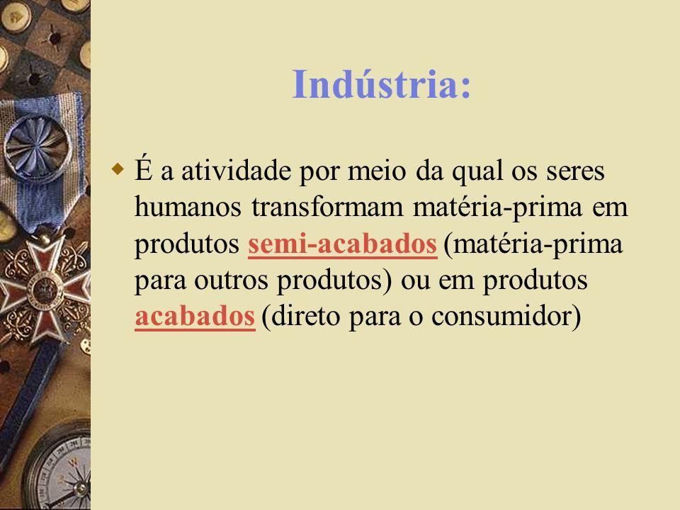 Divisão Histórica das Indústrias Indústrias Clássicas: existente nos países desenvolvidos, início séc.