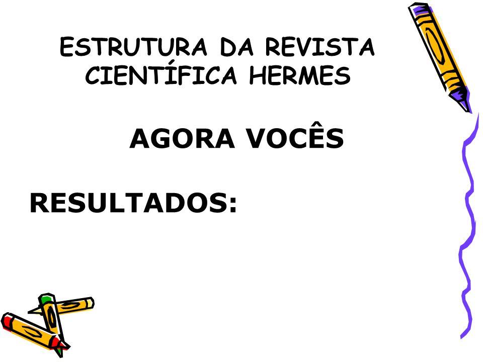 ESTRUTURA DA REVISTA CIENTÍFICA HERMES 11.