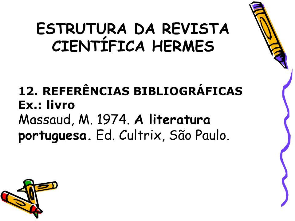 ESTRUTURA DA REVISTA CIENTÍFICA HERMES Ex.: artigo Massi, K.G.