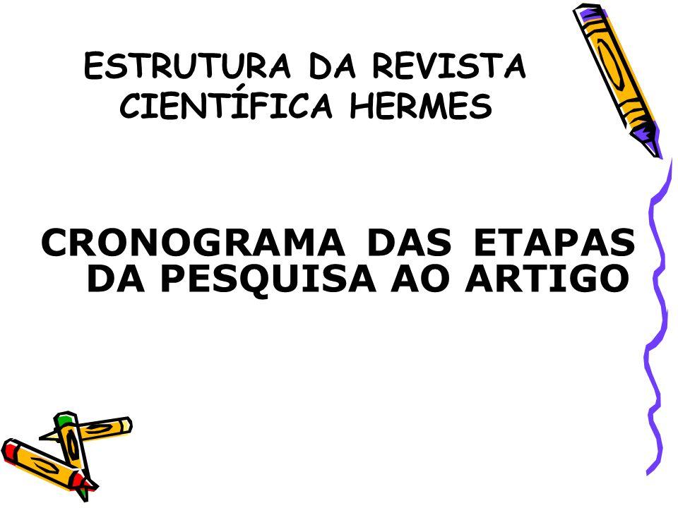 ETAPAS MESES ESCOLHA E DELIMITAÇÃO DO TEMA FORMULAÇÃO PROBLEMA ENUNCIAÇÃO HIPÓTESE DETERMINAÇÃO OBJETIVOS EXPOSIÇÃO JUSTIFICATIVA DEFINIÇÃO METODOLOGIA COLETA DE DADOS CODIFICAÇÃO E TABULAÇÃO DADOS TRATAMENTO ESTATÍSTICO ANÁLISE E INTERPRETAÇÃO DOS RESULTADOS REDAÇÃO DO ARTIGO