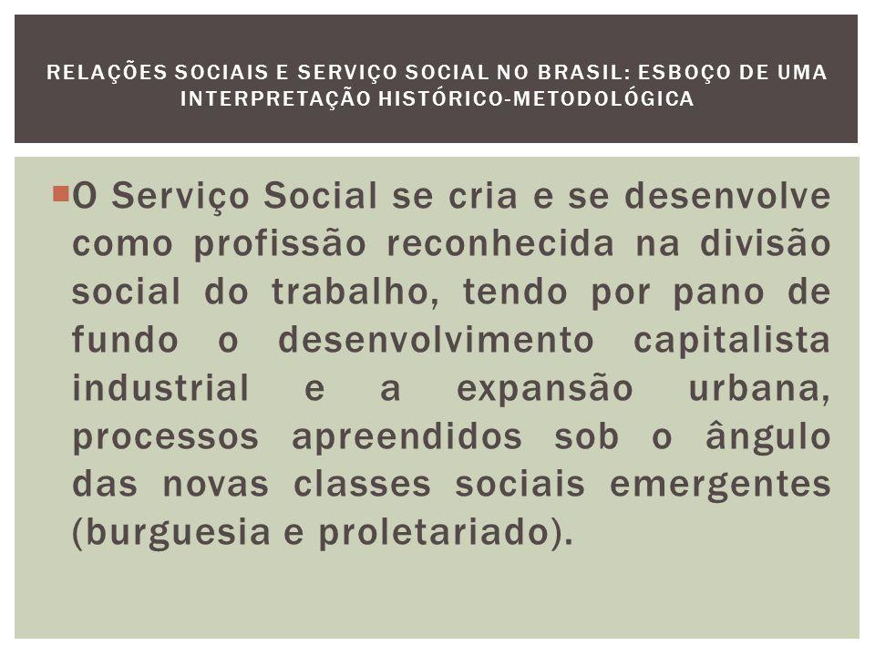 Aspectos da História do Serviço Social no Brasil (1930-1969) O aparecimento da questão social está diretamente relacionado à generalização do trabalho livre substituíndo o trabalho escravo.