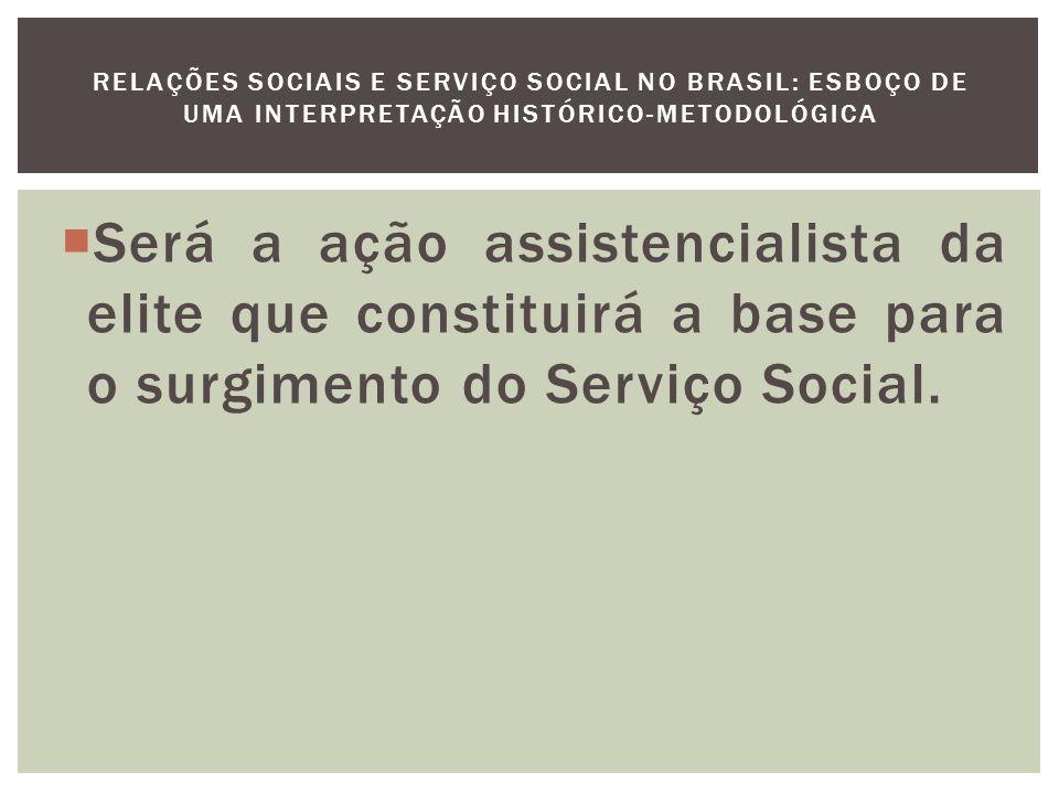 A protoforma do Serviço Social se desenvolve moderadamente na década de 20 e se acelerará na década seguinte, com a mobilização da Igreja, do movimento católico leigo.
