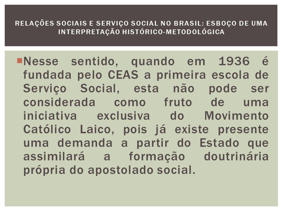 O Serviço Social no Rio de Janeiro e a Sistematização da Atividade Social Em 1936 é realizado o primeiro curso intensivo de Serviço Social, com duração de 3 meses.