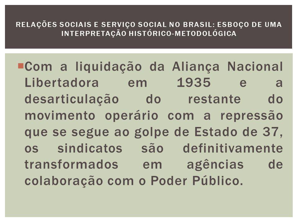 As instituições sociais e assistenciais convertem-se em instrumento de controle social e político dos setores dominados e de manutenção do sistema de produção, tanto por seus efeitos econômicos, como pela absorção dos conflitos sociais e disciplinamento das relações sociais vigentes.