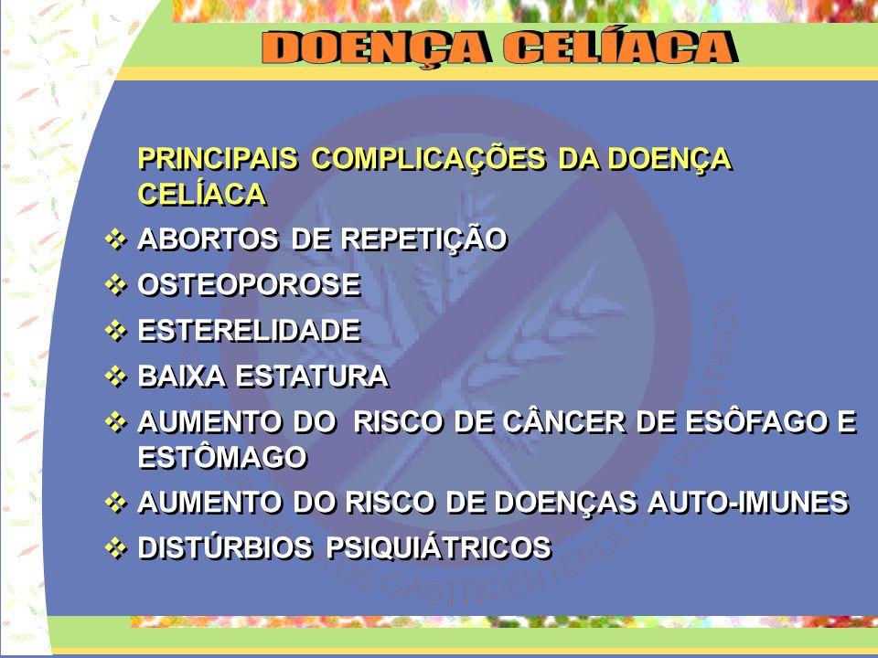 CONCLUSÕES PENSAR MAIS EM DC ENCAMINHAR OS PACIENTES COM SUSPEITA AO SERVIÇO ESPECIALIZADO APOIO AOS FAMILIARES DE PACIENTES PORTADORES DE DC NUNCA INICIAR A EXCLUSÃO DE GLÚTEN DA DIETA SEM ANTES REALIZAR BIÓPSIA TRATAMENTO E SEGMENTO RIGOROSO PARA EVITAR COMPLICAÇÕES CONCLUSÕES PENSAR MAIS EM DC ENCAMINHAR OS PACIENTES COM SUSPEITA AO SERVIÇO ESPECIALIZADO APOIO AOS FAMILIARES DE PACIENTES PORTADORES DE DC NUNCA INICIAR A EXCLUSÃO DE GLÚTEN DA DIETA SEM ANTES REALIZAR BIÓPSIA TRATAMENTO E SEGMENTO RIGOROSO PARA EVITAR COMPLICAÇÕES
