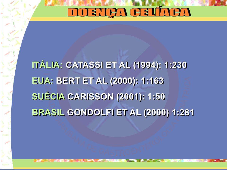PREVALÊNCIA: BRASIL: SOCIEDADE PAULISTA DE PEDIATRIA E NUTRIÇÃO (1979) NATAL: 20 CASOS BRASILIA: 38 CASOS MINAS GERAIS: 180 CASOS R.