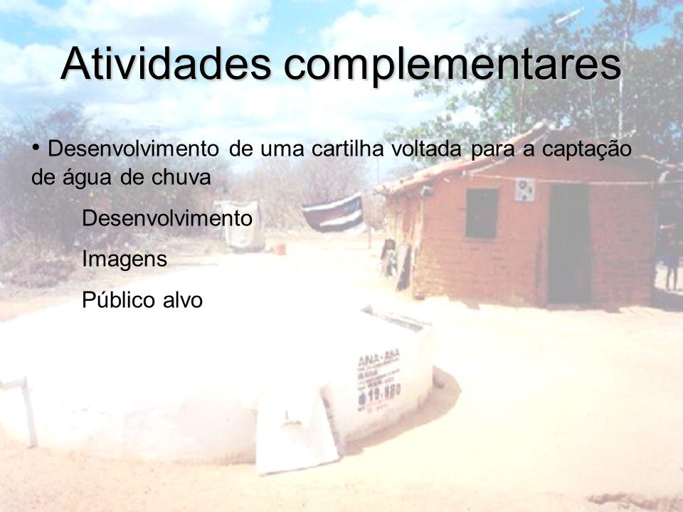 Imagens Construção de uma cisternaUtilização de água de chuva armazenada em cisterna Cisterna adquirida pelo programa 1 milhão de cisternas Construção de um telhado(Área de captação)